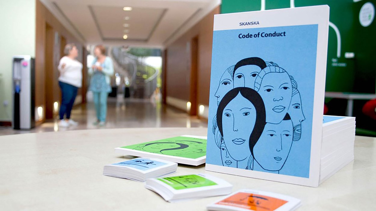 our-code-of-conduct-brochure-in-maple-cross-head-office