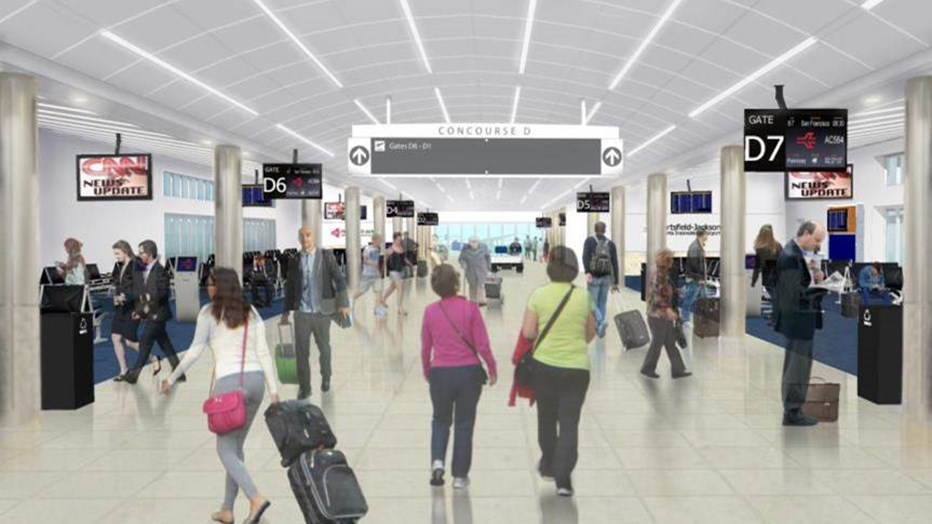 The City of Atlanta wants a fresh and modern look in the Hartsfield-Jackson International Airport that involves upgrading and modernizing Concourses T, C and D and the AGT Stations and Tunnels. Once completed, this project will unify both Terminals and enhance user experience and service throughout the airport. (Photo credit: HJDC)